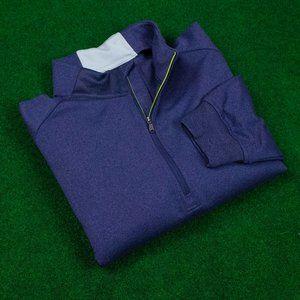 adidas Heather Purple w/ Green Accents ¼ Zip Sweat